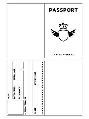 printable passport template kids passport template