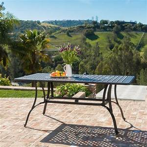 Durham, Outdoor, Cast, Aluminum, Rectangular, Dining, Table, Bronze, -, Walmart, Com