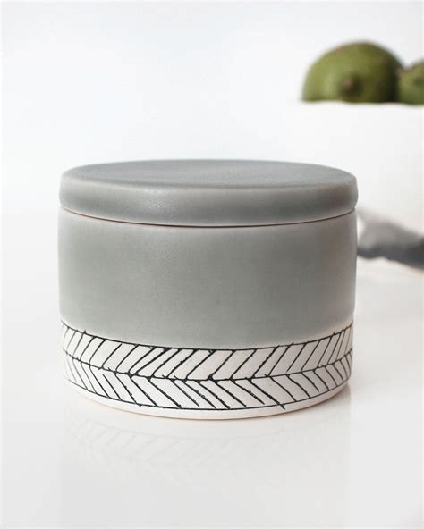 home goods salt l sage herringbone salt cellar everything ren