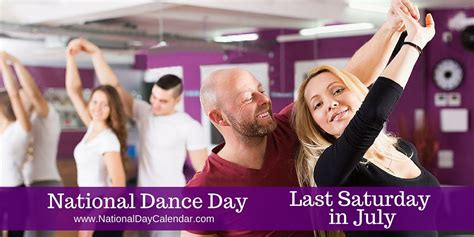 national dance day saturday july national day calendar