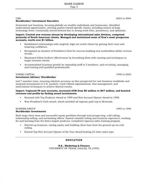 Free Resume Sles by 20 Best Images About Marketing Resume Sles On