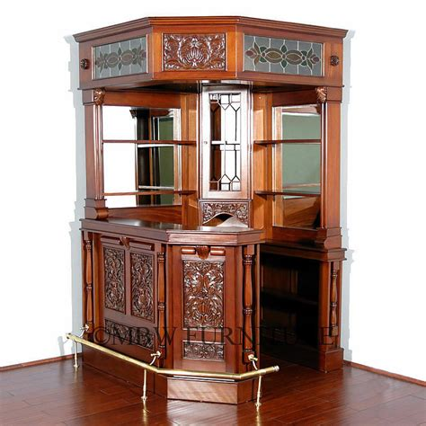 Bar Corner by 6 5ft Wide Mahogany Canopy Corner Bar W Lead Stained