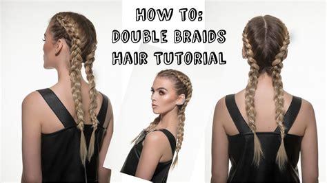 kylie jenner inspired double braids hair rehab