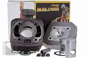 Cylindre Culasse Malossi 70cc  U0026quot Sport U0026quot  Fonte Peugeot