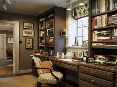 Masculine Office Decor, Home Office Decorating Ideas