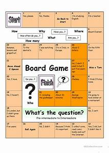 Board Game - What U00b4s The Question  Medium  Worksheet