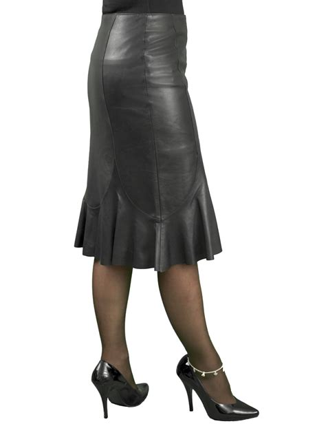 Fishtail Leather Skirt below knee length (2 colours) - Tout Ensemble