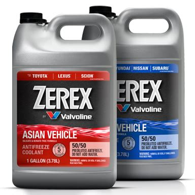 valvoline zerex asian vehicle antifreeze coolant product catalog valvoline
