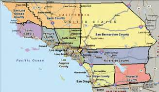 Southern California County Map