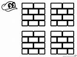 Mario Coloring Block Brick Odyssey Super Pages Printable Adults Bettercoloring sketch template