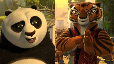 Po & Master Tigress (kung-fu Panda)
