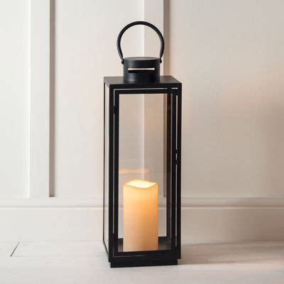 outdoor wall lantern tesco buy tall black metal battery outdoor led candle lantern