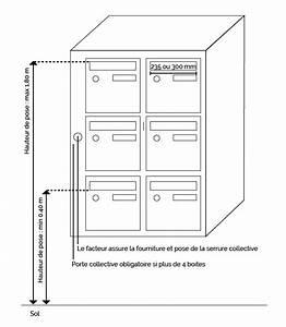 Boite Colis Poste Dimensions : normes boite aux lettres la poste installation int rieures ~ Nature-et-papiers.com Idées de Décoration