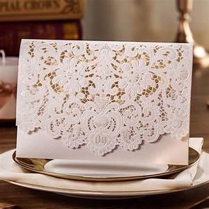 horizontal laser cut wedding invitations cards white gold With gold laser cut wedding invitations uk