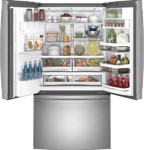 ge profile pyekynfs    cu ft counter depth french door refrigerator stainless steel