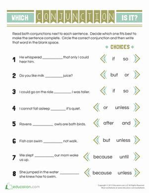 15 best images about for conjunctions on pinterest