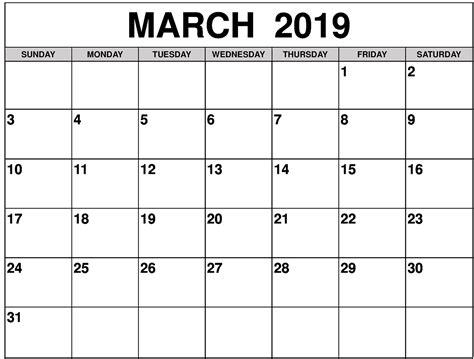 march  calendar printable  printable