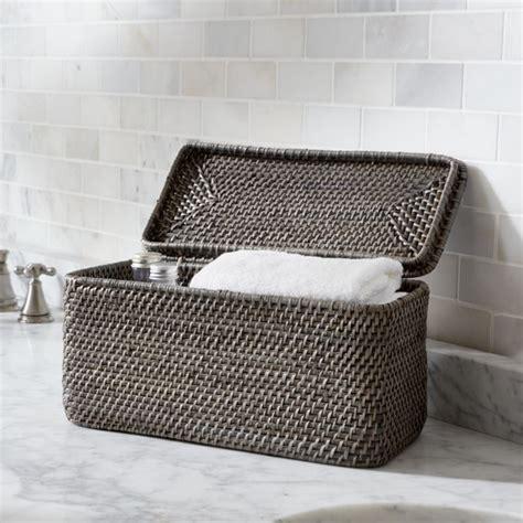 sedona grey lidded rectangular tote reviews crate