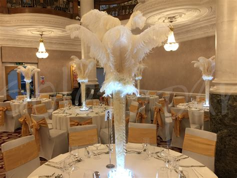 white ostrich feather hire  lets party