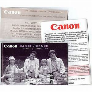 Canon Sure Shot Telemax  Date Instruction Manual   Service