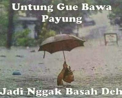 hujan tak  muram humor lucu banget