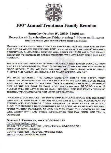 printable   family reunion program click