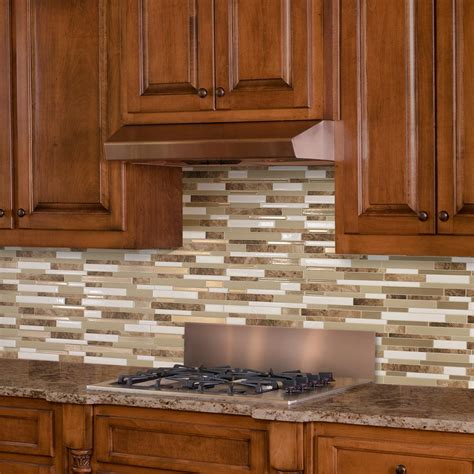stick on backsplash tiles for kitchen smart tiles sasso 11 55 in w x 9 65 in h peel and