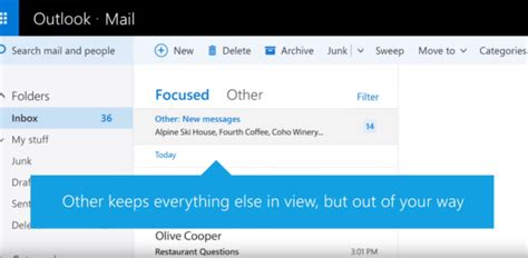 Office 365 Outlook Focused Inbox by Exchange Rolling Out Focused Inbox To Replace Clutter