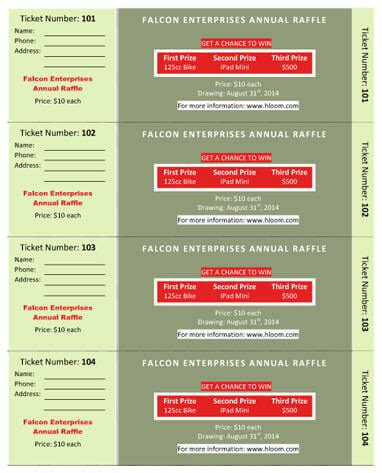 dinner ticket template word diy 15 free raffle ticket templates in microsoft word mail merge