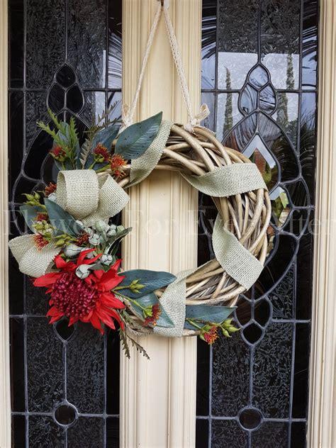 artificial australian native christmas wreath wreath artificial waratah australian rustic wreath door silk australian