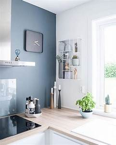 Cuisine coloree 10 idees pour faire entrer la couleur for Kitchen colors with white cabinets with 4 murs papier peints