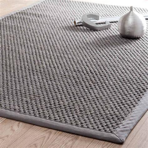 tapis tress 233 en sisal gris 160 x 230 cm bastide maisons du monde