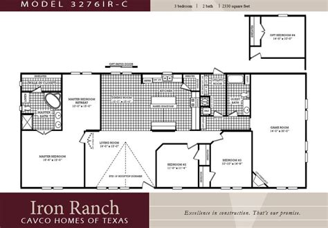 bedroom ranch floor plans large  bedroom  bath double wide manufactured homes home ideas