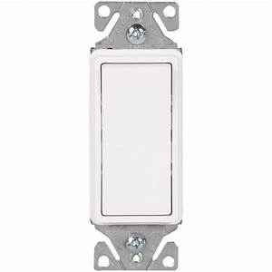 Leviton 15 Amp Combination Double Rocker Switch, White-R62
