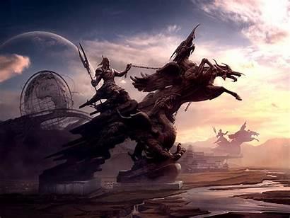 Fantasy Horse Landscape Ancient Wallpapers Horses Dong