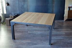 table salle a manger style industriel estein design With table salle a manger 8 personnes