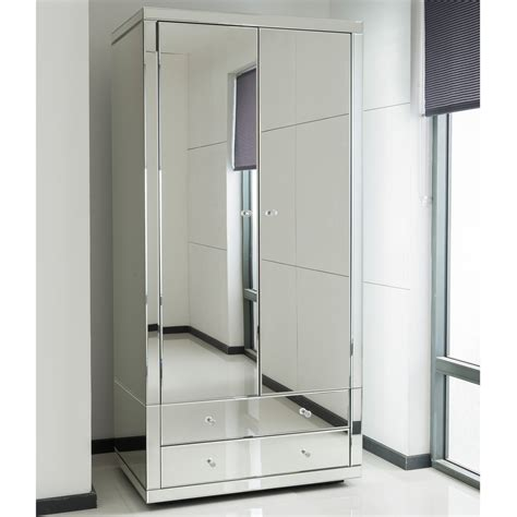 Mirrored Wardrobe by Romano Mirrored Wardrobe Venetian Mirrored Wardrobe