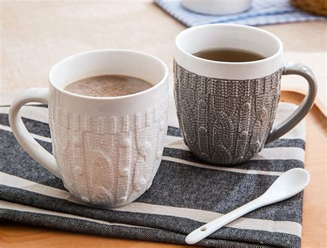 porcelain sweater lace coffee mug gadget flow