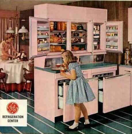 amazing vintage refrigerator  ge  includes