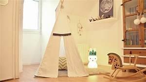 Tipi Chambre Fille : fabriquer un tipi pour enfant ~ Teatrodelosmanantiales.com Idées de Décoration