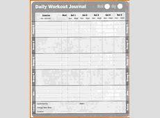 8 daily fitness log Divorce Document