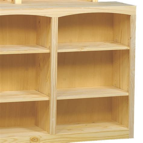Unfinished Bookcase by Arched Solid Pine Bookcase By Archbold