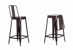 Tabouret De Bar Industriel Avec Dossier : chaise de bar avec dossier pliable ~ Teatrodelosmanantiales.com Idées de Décoration