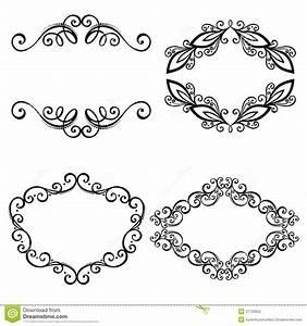 Marco Ornamental Decorativo Del Vector Para El Texto Ilustración del Vector Imagen: 37733553