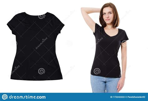 Whether you're a global ad agency or a freelance. Black T-shirt Mock Up Set Options Over White Background ...