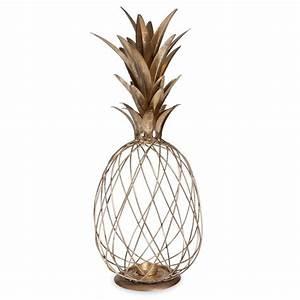 Objet Deco Ananas : lanterne en m tal dor ananas exotique pinterest lanterne parfait et chambres ~ Teatrodelosmanantiales.com Idées de Décoration