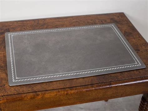 Custom Grey Leather Desk Pad Blotter Hungary, Circa 2015. Refrigerator Table. Silent Desk Fan. Ikea Micke Desk Instructions. Hutch With Desk. Best Stool For Standing Desk. Makeup Desk. Jewelry Drawer Organizer Trays. Buy Kitchen Drawers