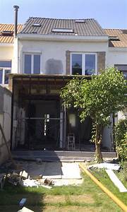chantier de renovation et construction d39une annexe vitree With cout annexe construction maison