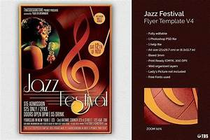 Christmas Posters Template Jazz Festival Flyer Bundle V2 Free Posters Design For