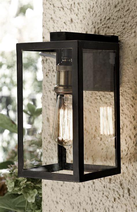 electrical box  brick stone veneer   wire lamps